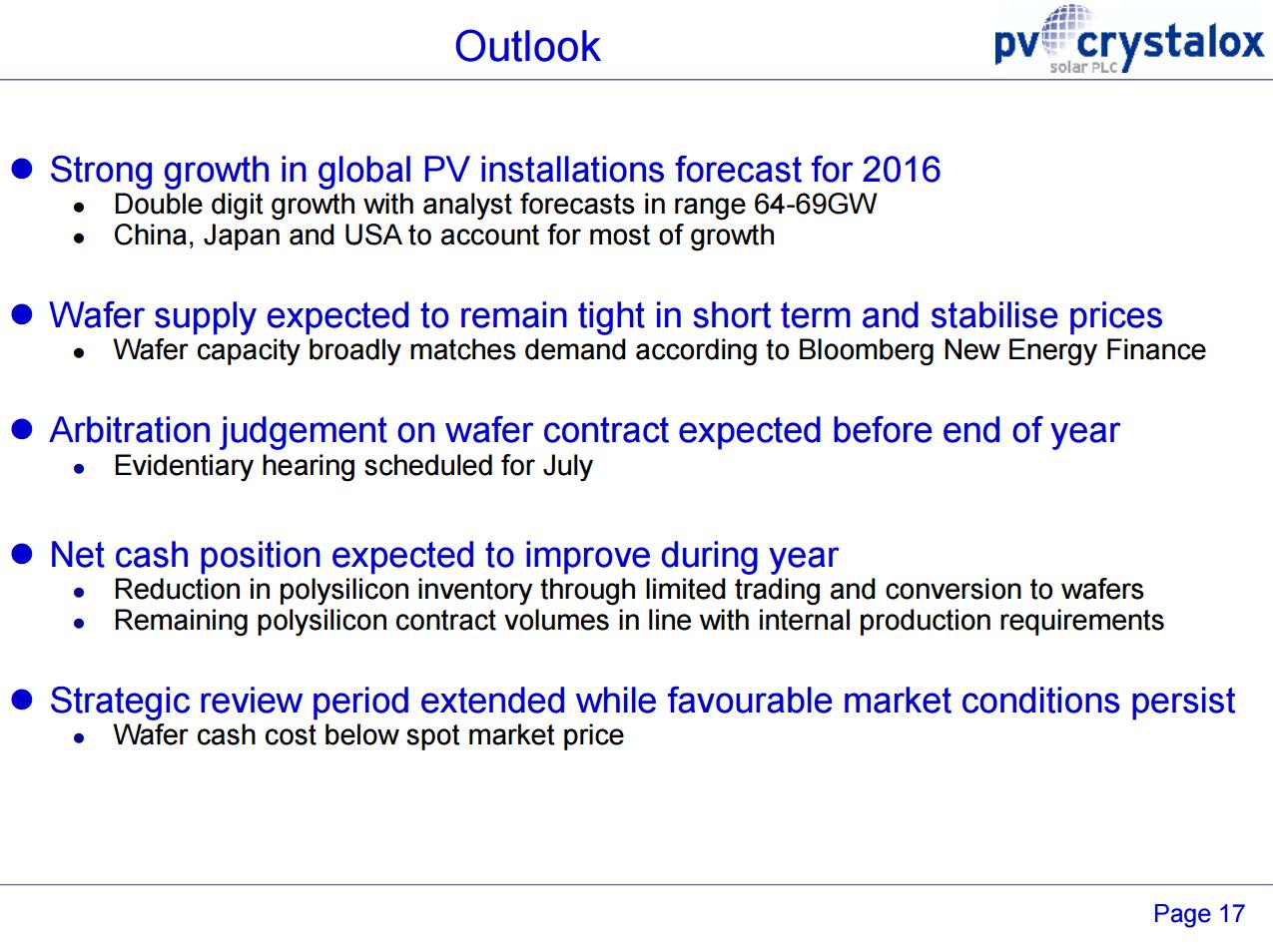 PV Crystalox outlook 2015