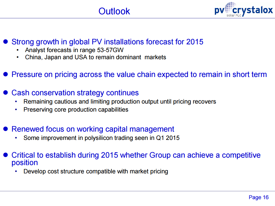 PV Crystalox Solar 2015 outlook slide